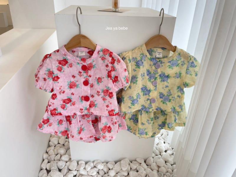 JEAYA & MYMI - Korean Children Fashion - #Kfashion4kids - Rose Top Bottom Set - 2